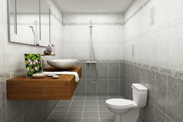 Có nhiều chất liệu gạch cho nhà tắm, nhà vệ sinh