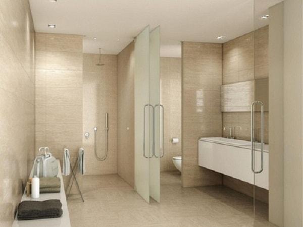 Gạch có kích thước lớn được sử dụng nhiều cho nhà tắm