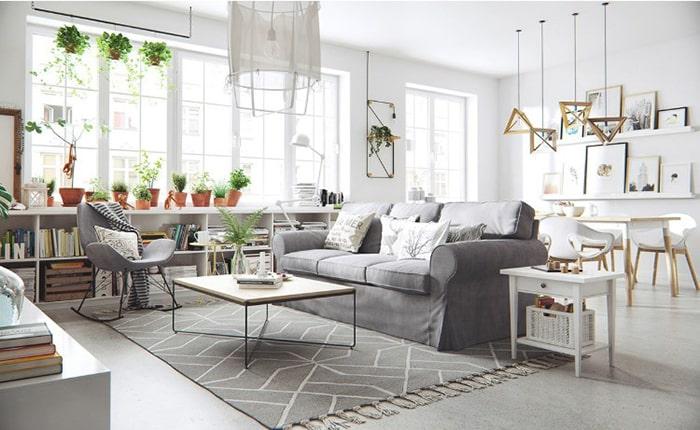 Tường trắng là điểm nhấn màu sắc trong Scandinavian
