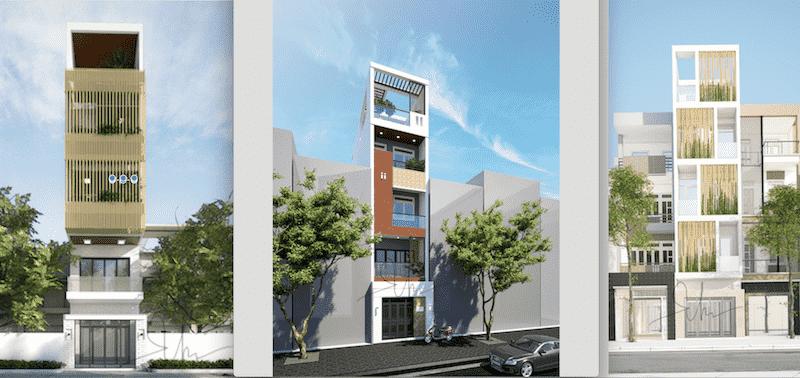 Thiết kế 5 tầng kiến trúc hiện đại phổ biến - nhà lô phố giá rẻ